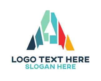 Advertising - Mosaic Letter A  logo design