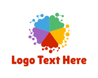 Friendly - Colorful Shape logo design