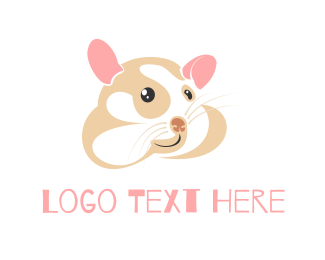 Rat - Cute Hamster logo design