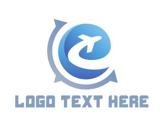 Aviation - Abstract Aeroplane logo design
