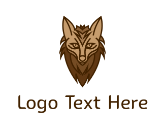 Wolf - Brown Hyena logo design