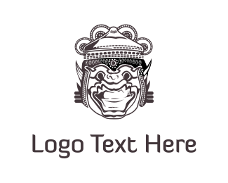 Mask - Hindu God logo design