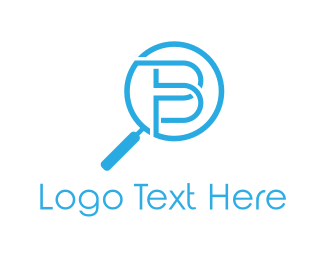 Magnifying Glass - Zoom Letter B logo design