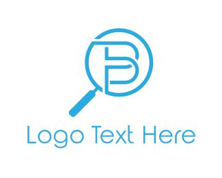 Magnifying Glass - Zoom Letter B logo design