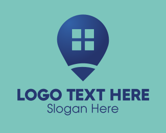 Location - House Locator logo design