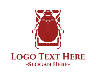 Beetle - Red Beetle logo design