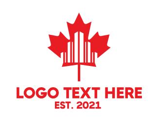 Maple Leaf - Canadian City logo design