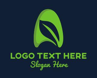 Organic Food - Leaf Letter A logo design