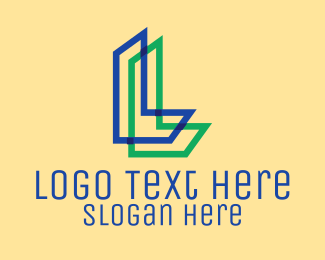 Neon - Letter L logo design