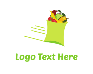 Mango - Fast Fruit logo design