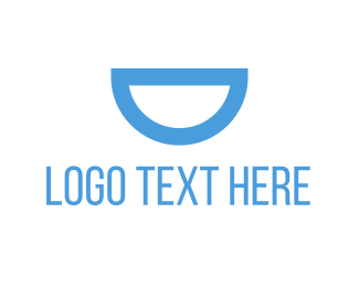 Dentist - Blue Semi Circle logo design