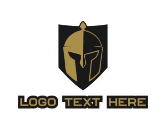 Sparta - Gladiator Shield  logo design
