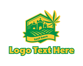 Drugs - Cannabis Farm logo design