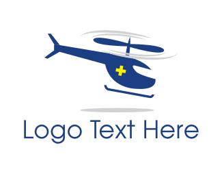 Helicopter - Ambulance Helicopter logo design