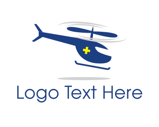 Rescue - Ambulance Helicopter logo design