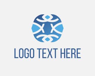 Pool - Aqua Ocean Life logo design
