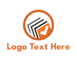 Ebook - Book Check logo design