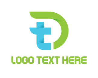 Futuristic - Modern T & D logo design