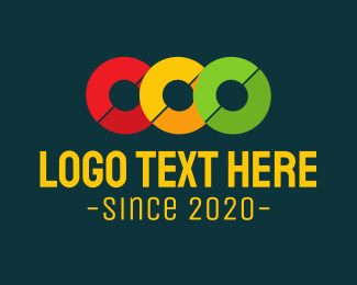 Three - Traffic Light logo design