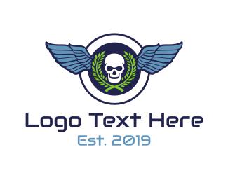 Seal - Skull Wing Seal logo design