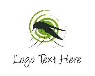 Virus - Mosquito Silhouette logo design