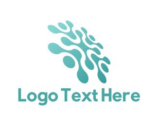 Networking - Tech Mint Flower logo design