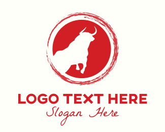 Cattle - Bull Circle logo design
