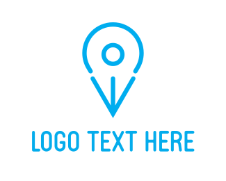 Location - Blue Bird Pin logo design