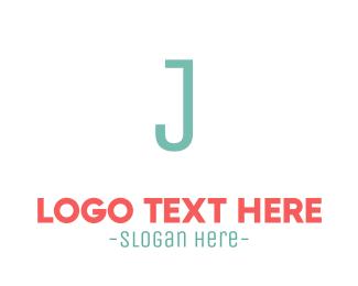 Jamaica - Turquoise Letter J logo design
