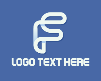 Loop - White F logo design