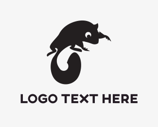 Squirrel - Black Squirrel logo design