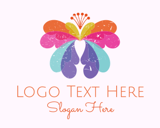 Bloom - Colorful Butterfly logo design