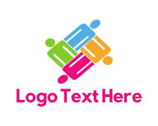 Organization - Colorful Team logo design