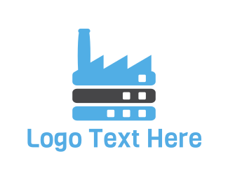 Oil Company - Blue Factory logo design
