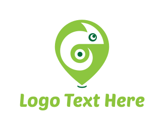 Lizard - Chameleon Pin logo design