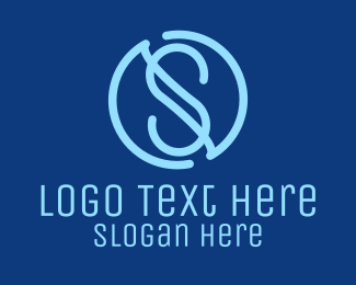 Monogram - Modern S Circle logo design