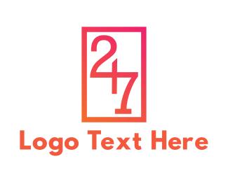 Number - Number 247 logo design