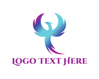 Anime - Blue Phoenix logo design