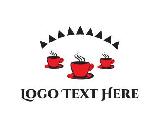 Latte - Red Coffee  logo design