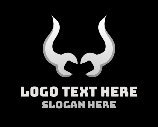 Panel Beater - Wrench Horns logo design