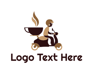Scooter - Coffee Bike logo design