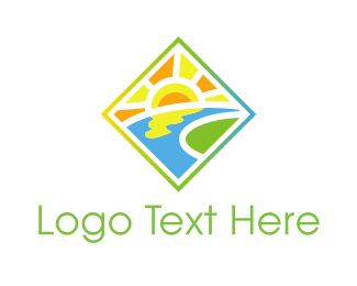 Lake - Sunny Valley logo design