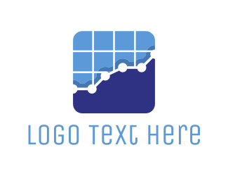 Stock Market - Tech Stats Chart logo design