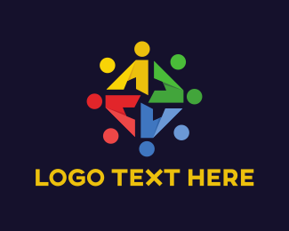 Human Resources - Colorful Team logo design