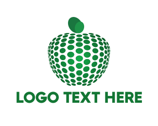 Plant - Dots & Green Apple logo design