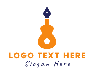 Copywriter - Guitar Pen logo design