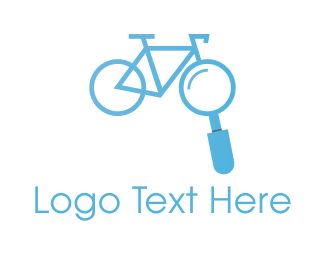 Magnifying Glass - Bike Search logo design