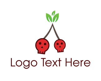 Pirate - Cherry Skull logo design