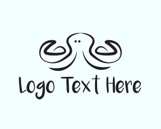 Tentacles - Black Octopus logo design