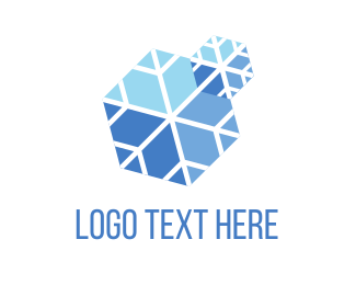 Skiing - Blue Snow logo design